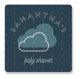 Rain Cloud Parade Baby Shower Stickers