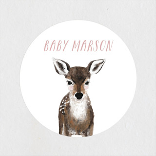 Baby Animal Deer Baby Shower Stickers