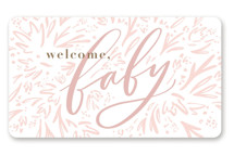 This is a gold baby shower favor label by Julie Murray called Mom-to-Be with standard printing on uncoated sticker paper in sticker.