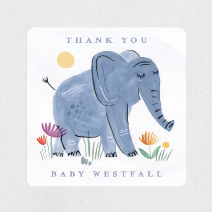 Playful Elephants Baby Shower Stickers By Morgan Ramberg Minted