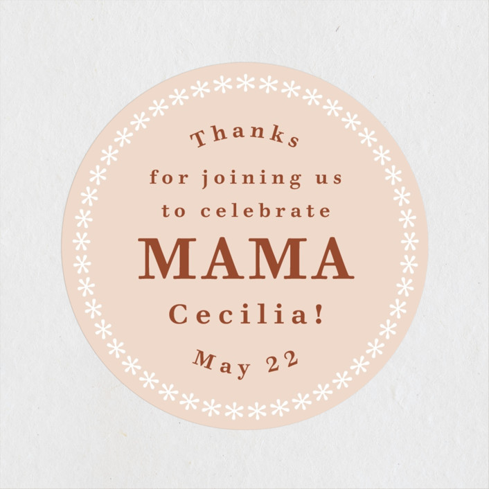 """""""Great Mama"""" - Baby Shower Stickers in Candy by Kelsey Mucci."""