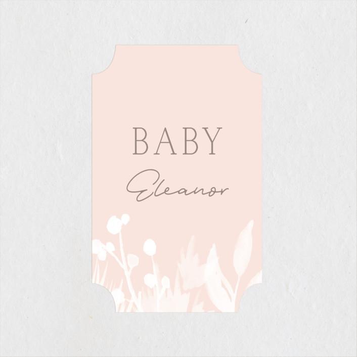 """Sprinkled"" - Baby Shower Stickers in Blush by JeAnna Casper."