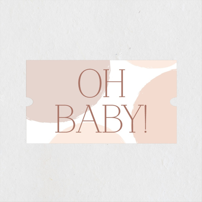 """""""Oh Baby!"""" - Preppy Baby Shower Stickers in Blush by Angela Thompson."""
