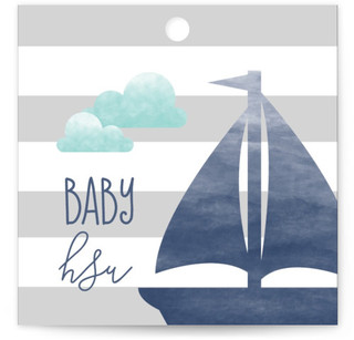 Set Sail Adventure Baby Shower Favor Tags