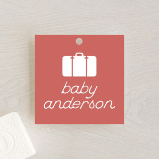 Miniature Railroad Baby Shower Favor Tags