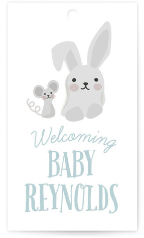 Woodland Buddies Baby Shower Favor Tags