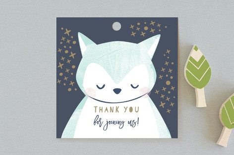 Night Owl Baby Shower Favor Tags