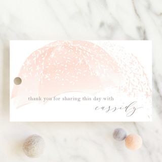 Sparkling Umbrella Baby Shower Favor Tags