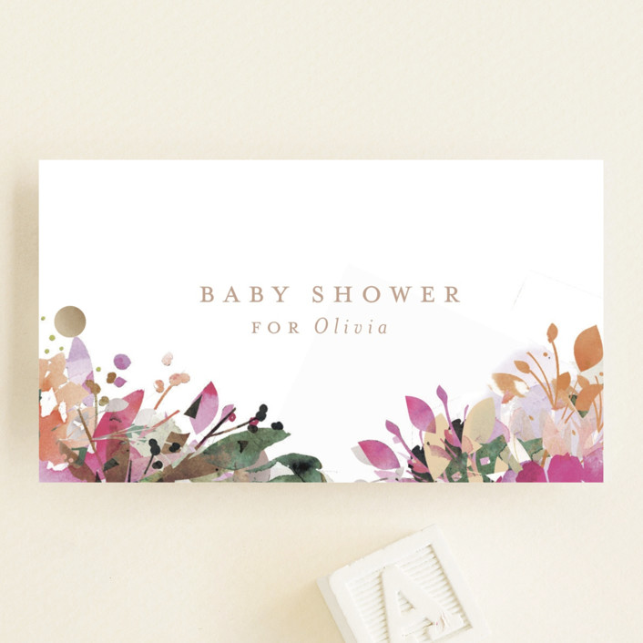 """""""Little Garden"""" - Baby Shower Favor Tags in Tumbleweed by Lori Wemple."""