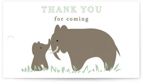 elephant elephant Baby Shower Favor Tags