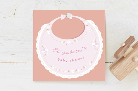vintage bib Baby Shower Favor Tags