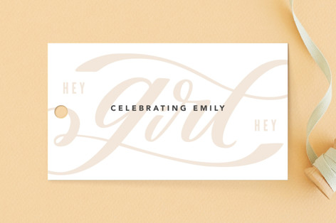 Hey girl Baby Shower Favor Tags
