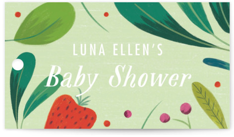 Berry Baby Baby Shower Favor Tags