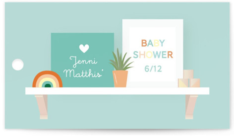 Nursery Shelves Baby Shower Favor Tags