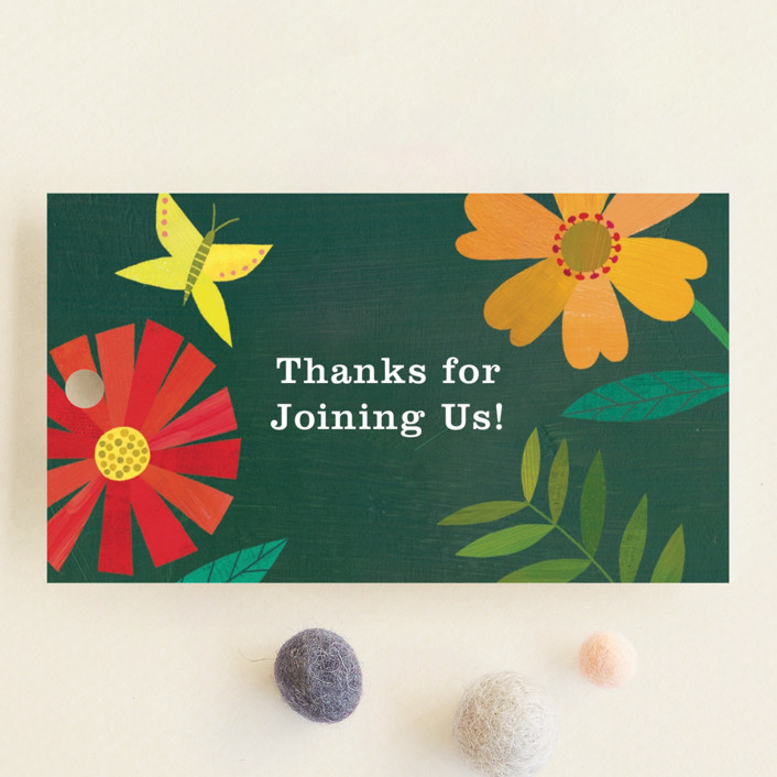 """Garden Border"" - Baby Shower Favor Tags in Forest by melanie mikecz."