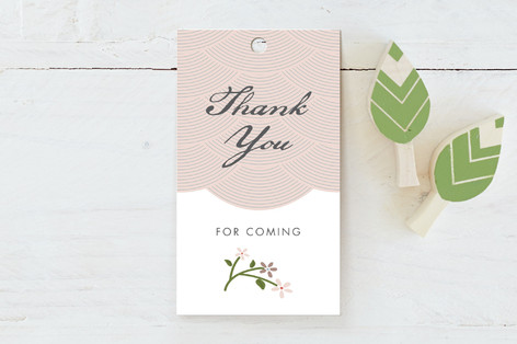 Japanese Garden Baby Shower Favor Tags