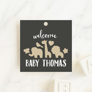 Fancy Zoo Baby Shower Favor Tags