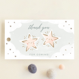 Twin Stars Baby Shower Favor Tags
