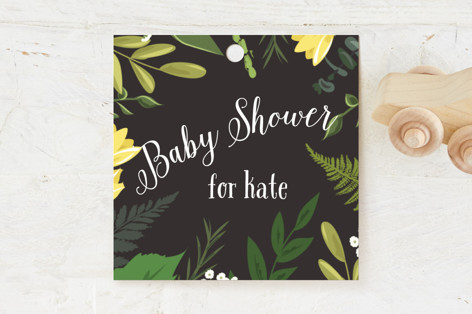 Go Green Shower Baby Shower Favor Tags