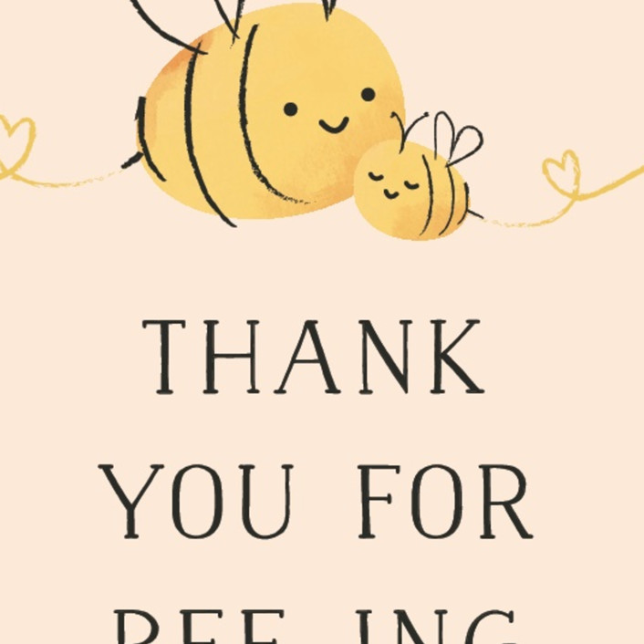 Baby Shower Unisex Thank You Labels Stickers Honey Gifts Presents Favours Bee A