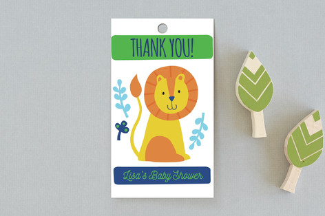 Bright Jungle Baby Shower Favor Tags