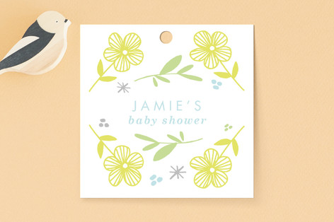 Busy Little Baby Baby Shower Favor Tags