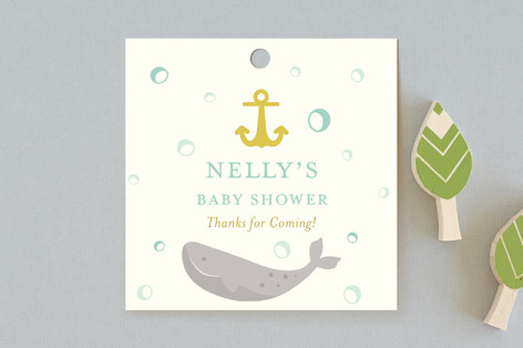 Greetings Captain Baby Shower Favor Tags