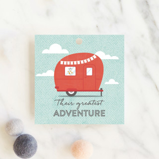 Cute Camper Baby Shower Favor Tags