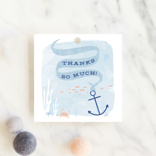 Dreamy Ocean Baby Shower Favor Tags