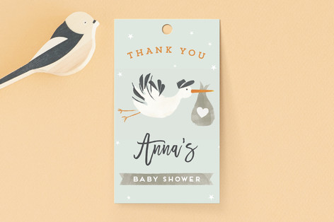Stork Delivery Baby Shower Favor Tags