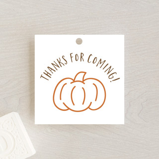 A Little Pumpkin Baby Shower Favor Tags
