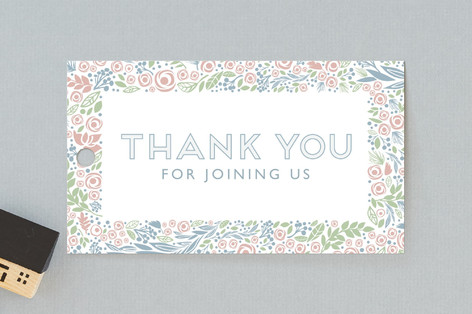 florals in pastels Baby Shower Favor Tags