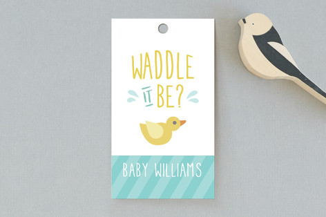 Waddle It Be Baby Shower Favor Tags