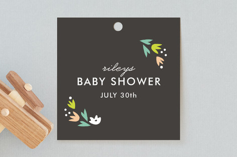 Agave Bebe Baby Shower Favor Tags