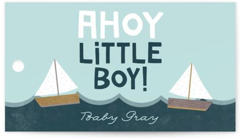 Ahoy Little Boy Baby Shower Favor Tags