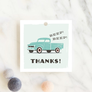 vintage baby truck Baby Shower Favor Tags