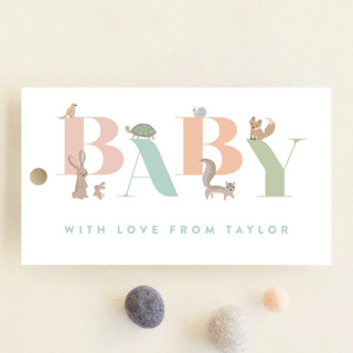 Woodland Baby Baby Shower Favor Tags