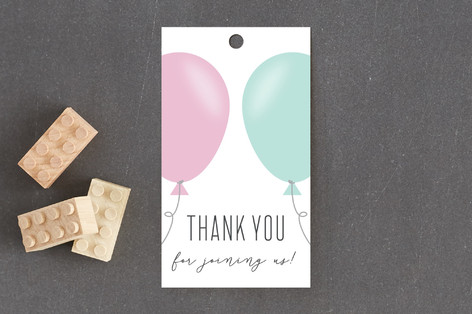 Simply Balloon Baby Shower Favor Tags