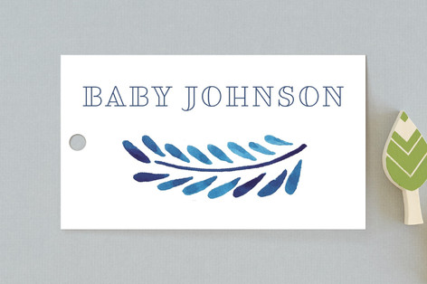 Painted Ornate Frame Baby Shower Favor Tags