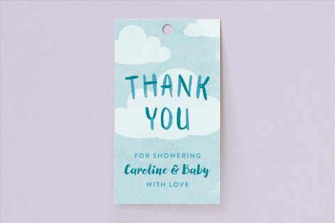 The Forecast Baby Shower Favor Tags