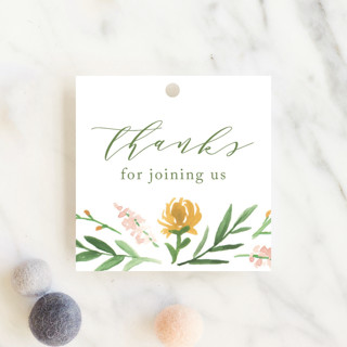 English Garden Baby Shower Favor Tags