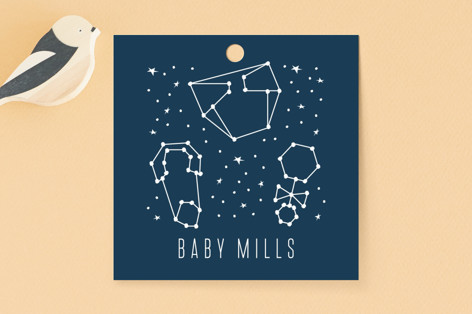 Celestial Baby Shower Favor Tags