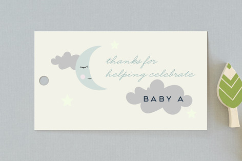 Night Sky Mobile Baby Shower Favor Tags