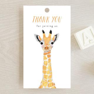 Baby Animal Giraffe Baby Shower Favor Tags