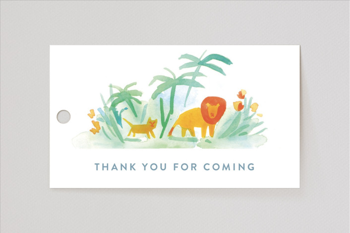 """""""Whole World"""" - Baby Shower Favor Tags in Whale by Rebecca Daublin."""