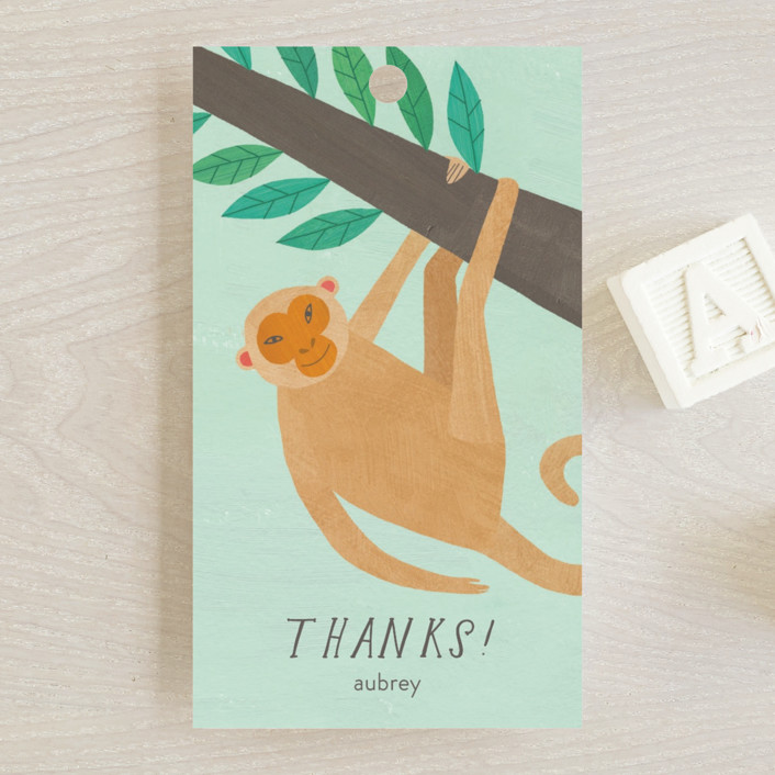 """""""Jungle Animals"""" - Baby Shower Favor Tags in Forest by melanie mikecz."""