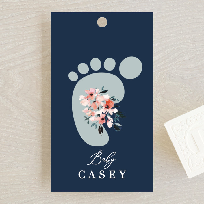 """""""Baby's Alphabet"""" - Baby Shower Favor Tags in Sky by Nicole Whiddon."""