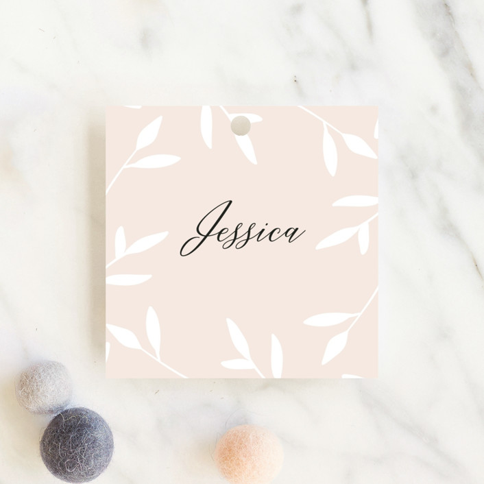 """""""Gently Framed"""" - Baby Shower Favor Tags in Fairy by David Michuki."""