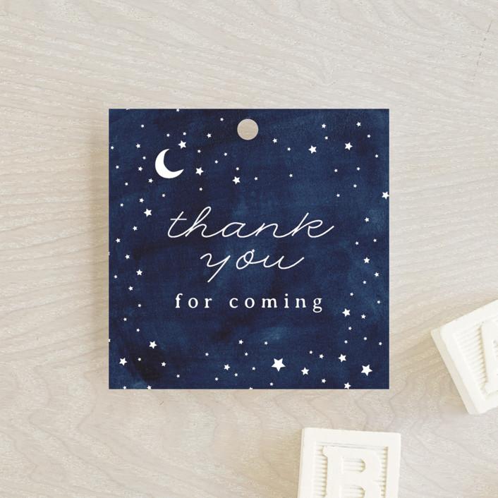 """Constellation"" - Baby Shower Favor Tags in Midnight by JeAnna Casper."