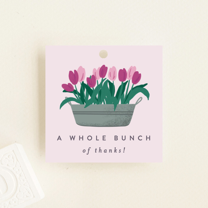 """""""Growing Garden"""" - Baby Shower Favor Tags in Mint by Everett Paper Goods."""